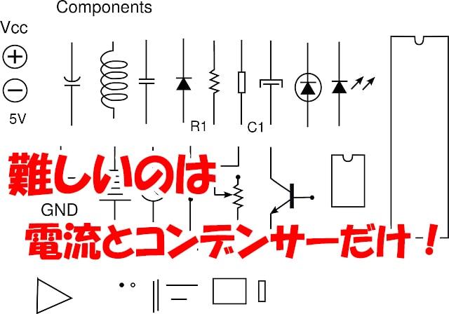電流とコンデンサーだけ難しい