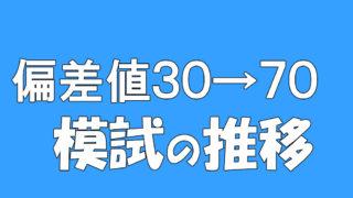 偏差値30→70模試推移