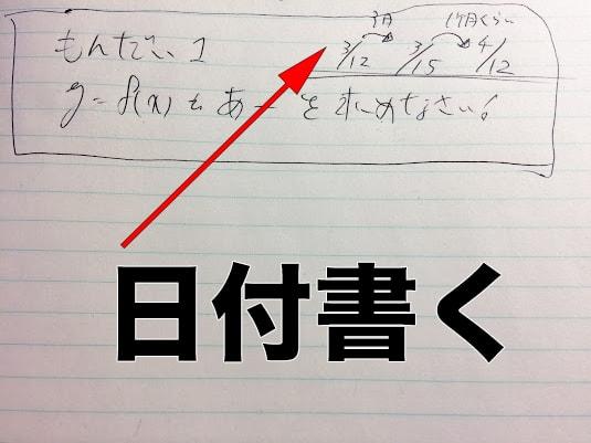 日付勉強法
